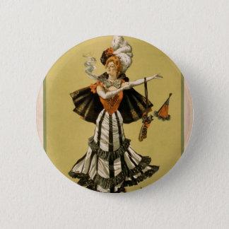 Zaza, 'Mrs Leslie Carter' Vintage Theater Pinback Button