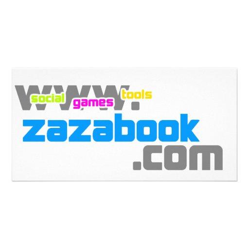 zazabook merch photo card