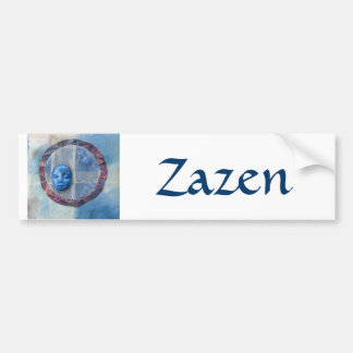 Zazen Under Azure Skies - collage Bumper Sticker