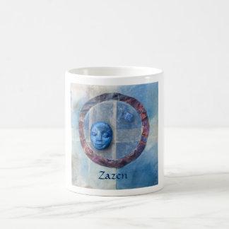 Zazen Under Azure Skies - collage Mugs