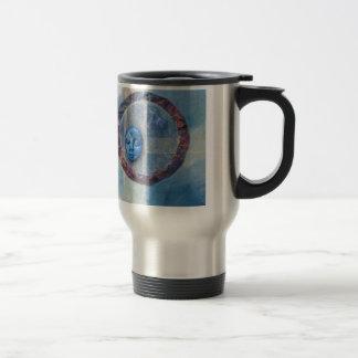 Zazen Under Azure Skies - collage Coffee Mug