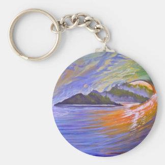 zazzel tropicalsunrise print.jpg keychain