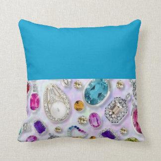 Zazziest Jewels Throw Pillows