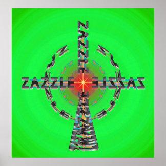 Zazzle al 10mo poder póster
