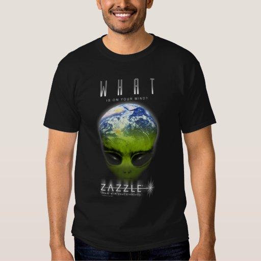 zazzle alien tee shirt