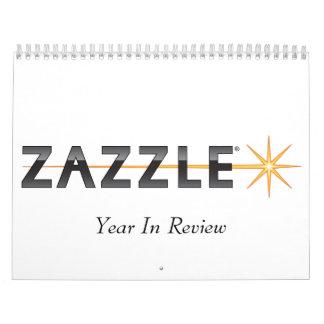 Zazzle, año en estudio calendario