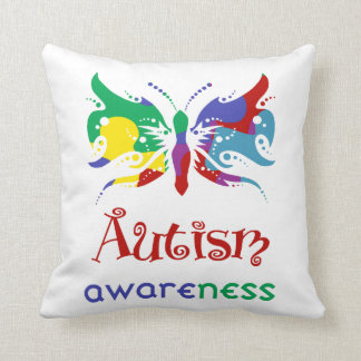 Zazzle Autism Awareness Butterfly Pillow