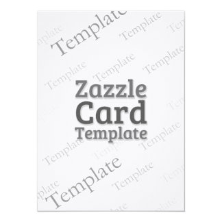 Zazzle Card Custom Template Laid Ivory Invitation
