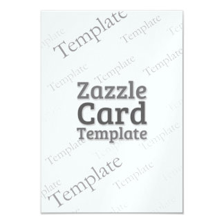 Zazzle Card Custom Template Metalic Ice Invitation