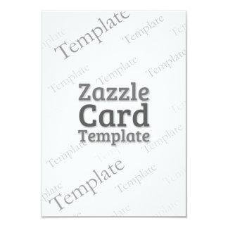 Zazzle Card Custom Template Recycled White Invite