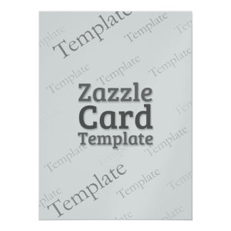 Zazzle Card Custom Template Silver Invitation
