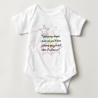 zazzle change my diaper now so youll have a funny baby bodysuit