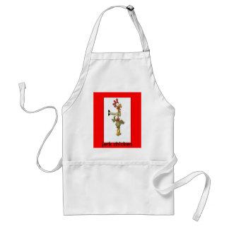 zazzle chicken choker, jerk chicken adult apron