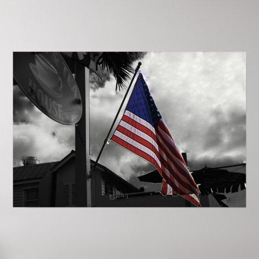Zazzle cierra la bandera 20x30 posters