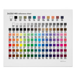 ZAZZLE COLORS | a hex codes reference chart