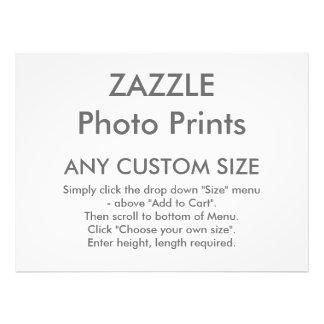 Zazzle cualquier tamaño de encargo personalizó la fotografía