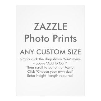 Zazzle cualquier tamaño de encargo personalizó la fotografías