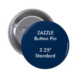 "ZAZZLE Custom 2.25"" Standard Round Button Pin BLUE"