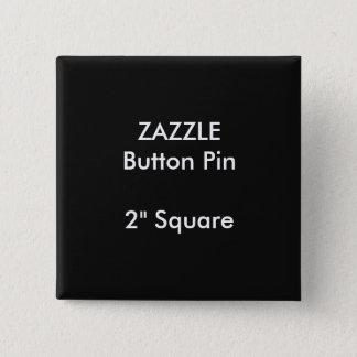 """ZAZZLE Custom 2"""" Square Button Pin BLACK"""