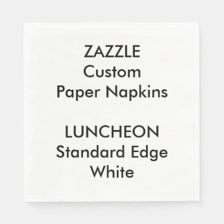 Zazzle Custom Large WHITE Luncheon Paper Napkins