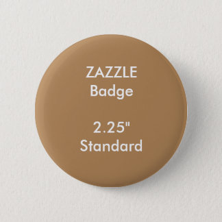 "ZAZZLE Custom Printed 2.25"" Standard Round Badge Button"