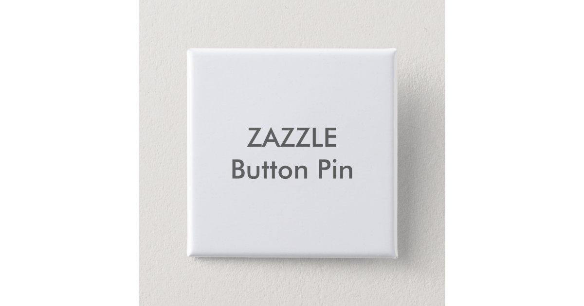 Zazzle Custom Square Button Pin Blank Template | Zazzle.com