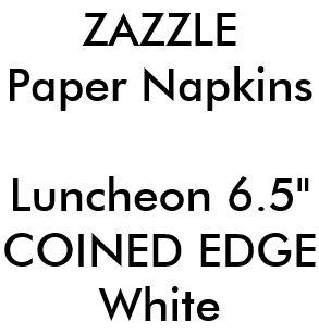 Coined Edge Napkins | Zazzle