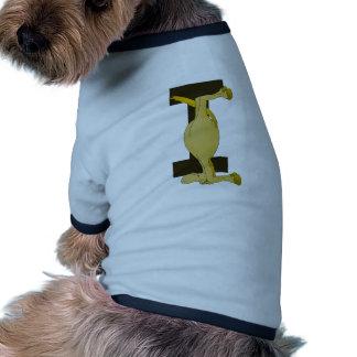 zazzle del monograma I del potro ningún shadow.png Camiseta Con Mangas Para Perro