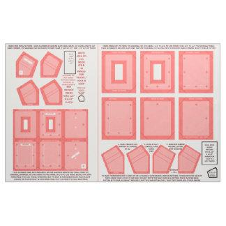 Zazzle Fabric 2 washable no sew pink photo frames