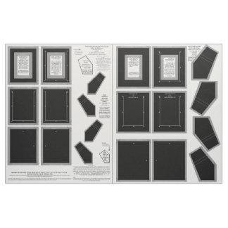 Zazzle Fabric washable no sew black photo frames