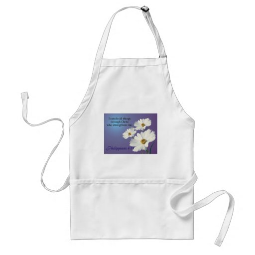 zazzle flower 2 design adult apron