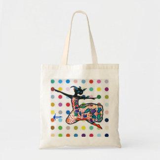 Zazzle flowers Silhouette dancer polka dots Bag