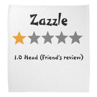 Zazzle friend's review one star bandana