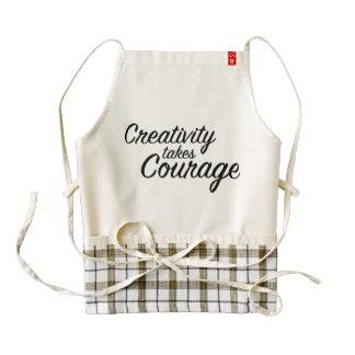 Zazzle Heart Apron Creativity Takes Courage