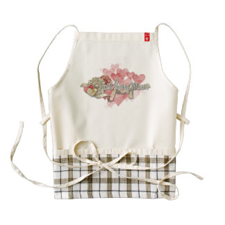 """Zazzle Heart Apron - """"Just Being Mom"""""""