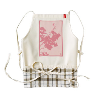 Zazzle HEART Apron PINK HUMMINGBIRD