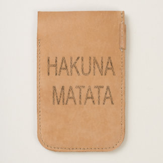 Zazzle Heart Leather Hakunamatata Adventure design iPhone 6/6S Case