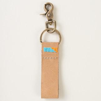 Zazzle Heart Leather Keychain