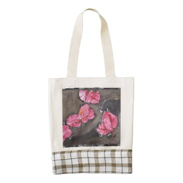 Beach Themed Zazzle HEART Tote Bag – Petals in Water