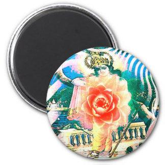 zazzle india light lotus 2 inch round magnet