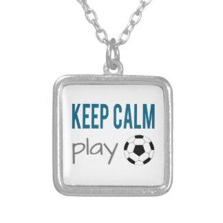 Zazzle Keep Calm Play Soccer Necklace