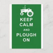 zazzle keep calm plough.jpg postcard