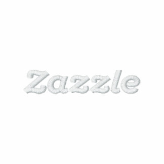 "Zazzle logo - 2"" Text Embroidered Polo Shirt"