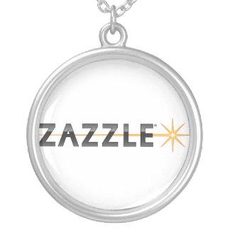 Zazzle Logo Round Pendant Necklace