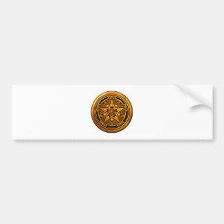 Zazzle - Masculine Gold Pentacle-noback Bumper Sticker