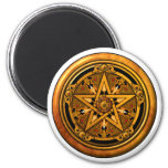 Zazzle - Masculine Gold Pentacle-noback Magnet