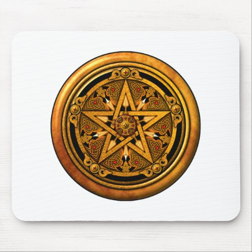 Zazzle - Masculine Gold Pentacle-noback Mouse Pad