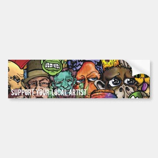 Zazzle mix copy, Support Your Local Artist, Sup... Car Bumper Sticker