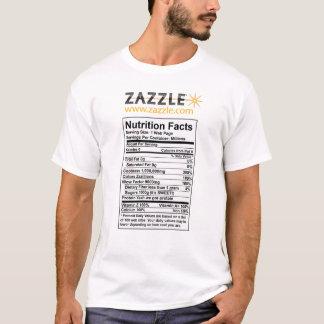 Zazzle Nutritional Info T-shirt