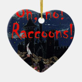 Zazzle ohno raccoonsOh, no! Raccoons! Ceramic Ornament